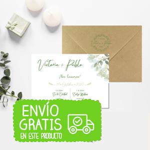 invitacion boda eucalipto