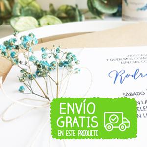 invitación boda flor preservada