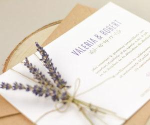 invitaciones flor