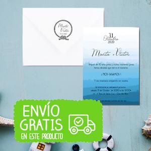 invitacion boda mar