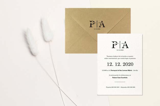 Invitación boda simple